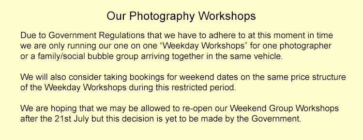 Creative Photo Workshops Dates