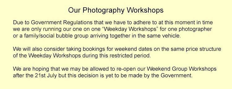 Creative Photo Workshops Dates